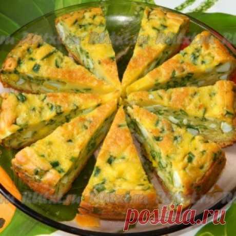Пирог с яйцами и зеленым луком. В мультиварке