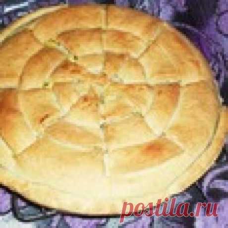 Закусочный пирог из песочного теста Кулинарный рецепт