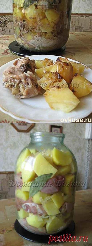 Roast in bank - Simple recipes of Овкусе.ру