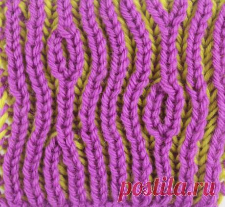 Техника вязания бриошь спицы + схема