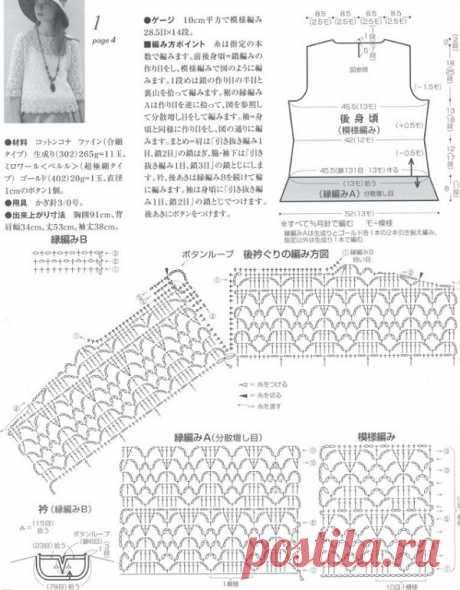 Вязание ажурного джемпера
