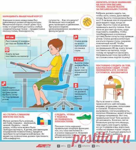 Как сберечь спину школьнику. Инфографика — Кидсомания