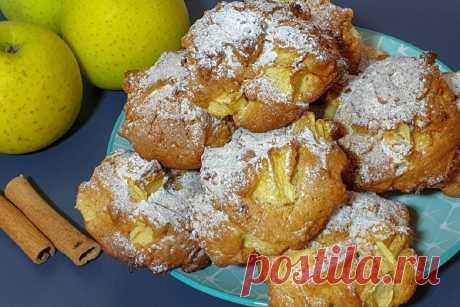 Печенье-шарлотка: простой десерт к чаю и на подарок Трех яблок хватит на целый противень!