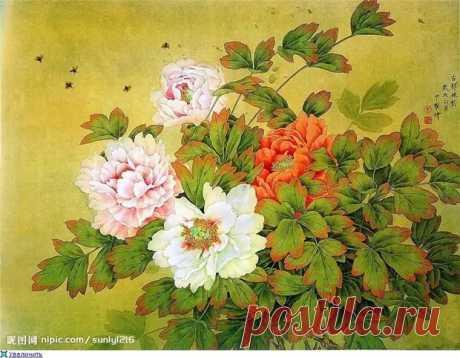 Цветы цветут сами по себе... Китайский художник Zhou Zhongyao - медиаплатформа МирТесен