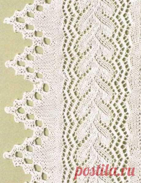 Кайма, зигзаги, несколько интересных узоров. Схемы. - запись пользователя Vikpolia (Нина) в сообществе Вязание спицами в категории Вязание для женщин спицами. Схемы вязания спицами