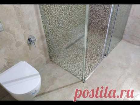 Как сделать ремонт в ванной и туалета с самодельной душевой кабинкой своими руками ?