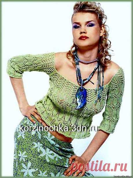 Вязаная кружевная блузка - 5 Сентября 2012 - Вязание спицами, модели и схемы для вязания на спицах