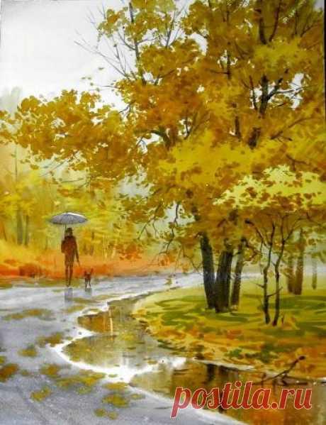 Картины (живопись) : В осеннем парке 2. Автор ИЛЬЯ ГОРГОЦ