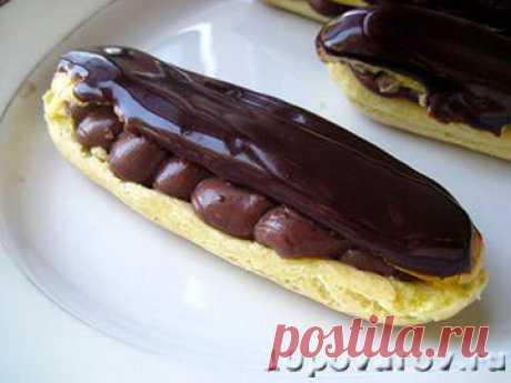 Эклеры с шоколадной начинкой - пошаговый рецепт с фото