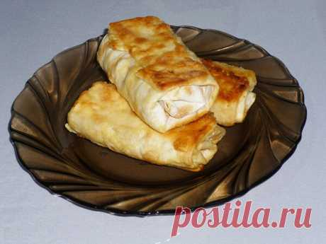 Быстрая закуска из лаваша с начинкой из курицы и плавленого сыра | Poperchi.Ru | Яндекс Дзен