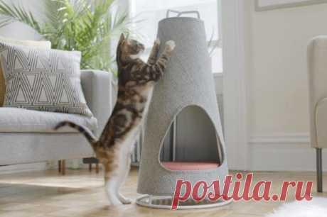 Домик и когтеточка - два-в-одном. Вот такое отличное решение придумала компания WISKI для котиков! Нам нравится! 🙂