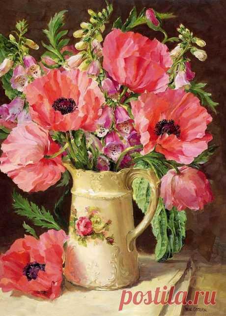 Художник Anne Cotterill (1933 – 2010). Волшебный мир живых цветов
