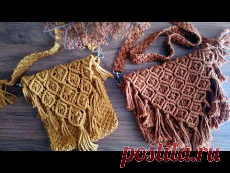 Одно видео, две сумки! | Изготовление сумки. Макраме