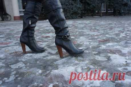Чтобы обувь не скользила зимой: 7 полезных подсказок — Полезные советы