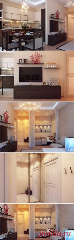 Дизайн однокомнатной квартиры в хрущевке: пример удобной планировки - Учимся Делать Все Сами