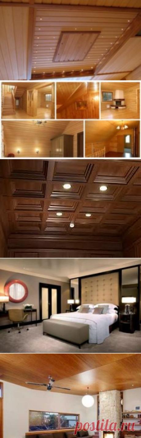 Виды потолка из дерева, характеристики деревянной отделки потолка