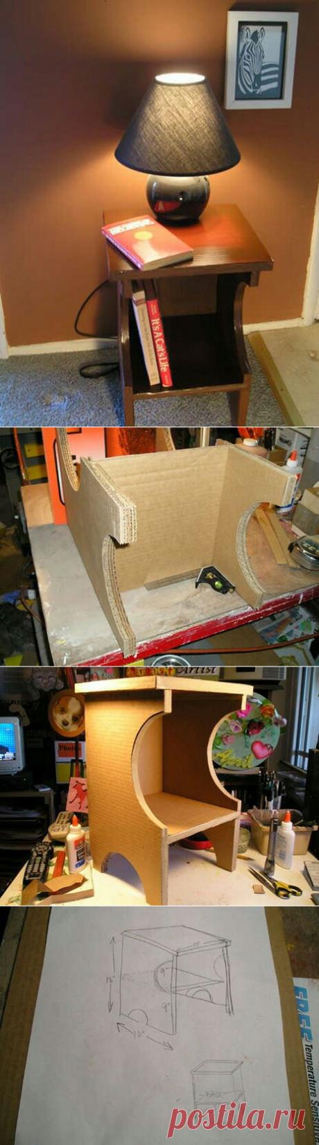 Тумба из картона (diy) / Мебель / ВТОРАЯ УЛИЦА