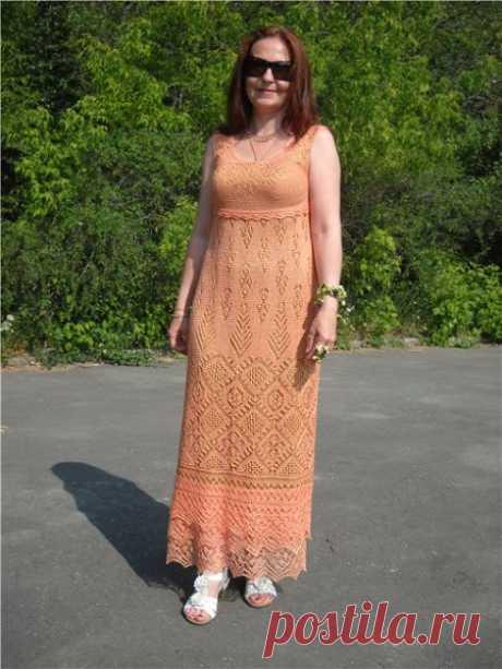 Платье спицами по шетландским мотивам от Жаннетты - Страна Мам