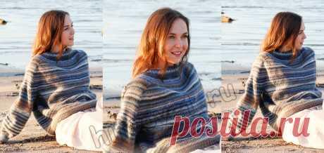 Свободный свитер спицами Evening Sun - Хитсовет