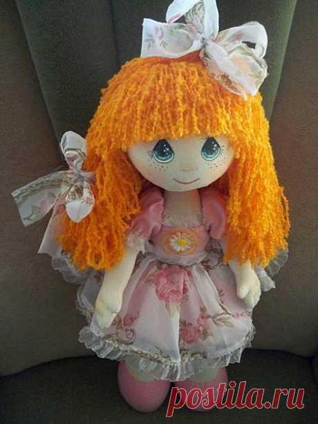 Текстильная кукла - сделал мастер Лидия Коробицына. Ярмарка мастеров, ручная работа.