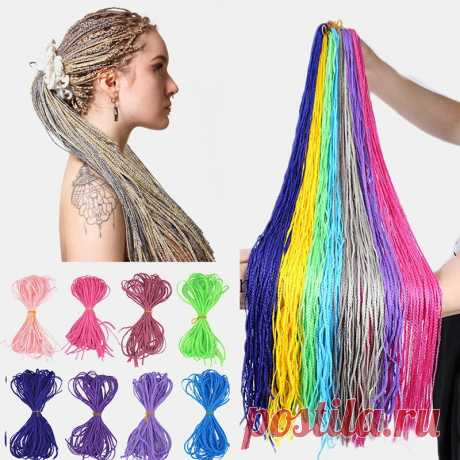 Halloween crochet box braids hair bundles colored dirty braids ponytail synthetic hair extensions Sale - Banggood.com