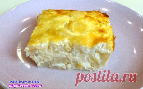 Омлет с цветной капустой и сыром приготовленный в духовке | Простые пошаговые фото рецепты | Яндекс Дзен
