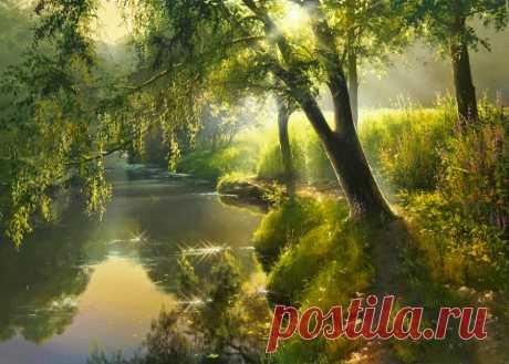 Невероятной красоты пейзажи белорусского художника Белорусский художник Виктор Юшкевич                          источник