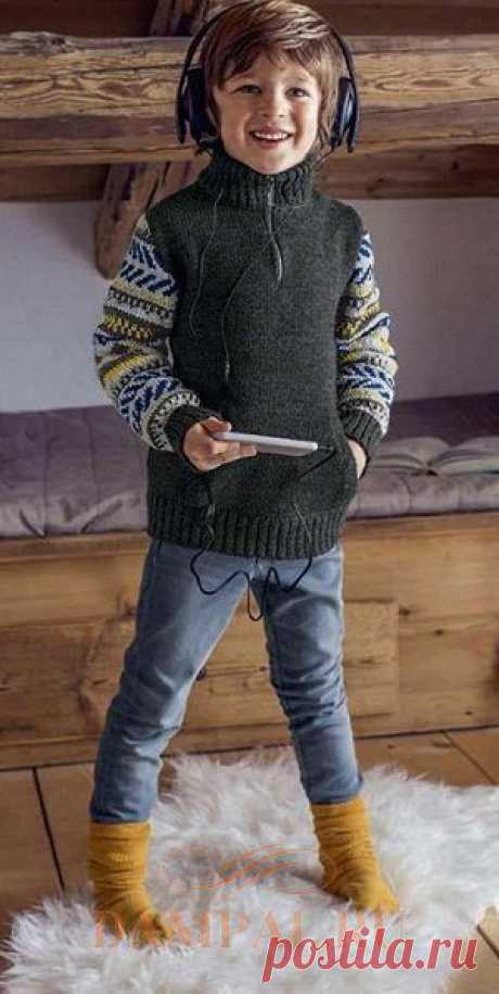 """Knitted sweater for the boy of \""""Yves\"""""""