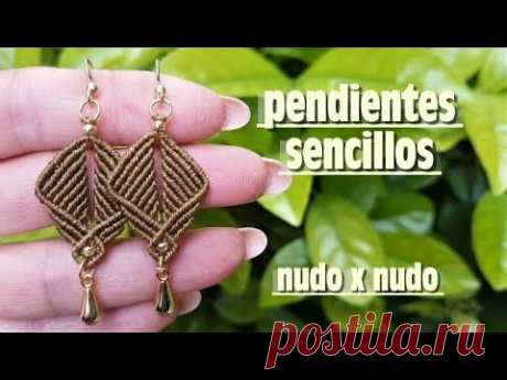 COMO ABRILLANTAR PENDIENTES DE HILO ENCERADO