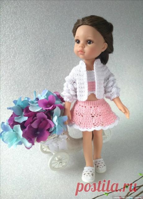 """Мастер-класс по вязанию бомбера крючком из комплекта """"Весенний стиль"""" для кукол Paola Reina / Вязание для кукол / Бэйбики. Куклы фото. Одежда для кукол"""