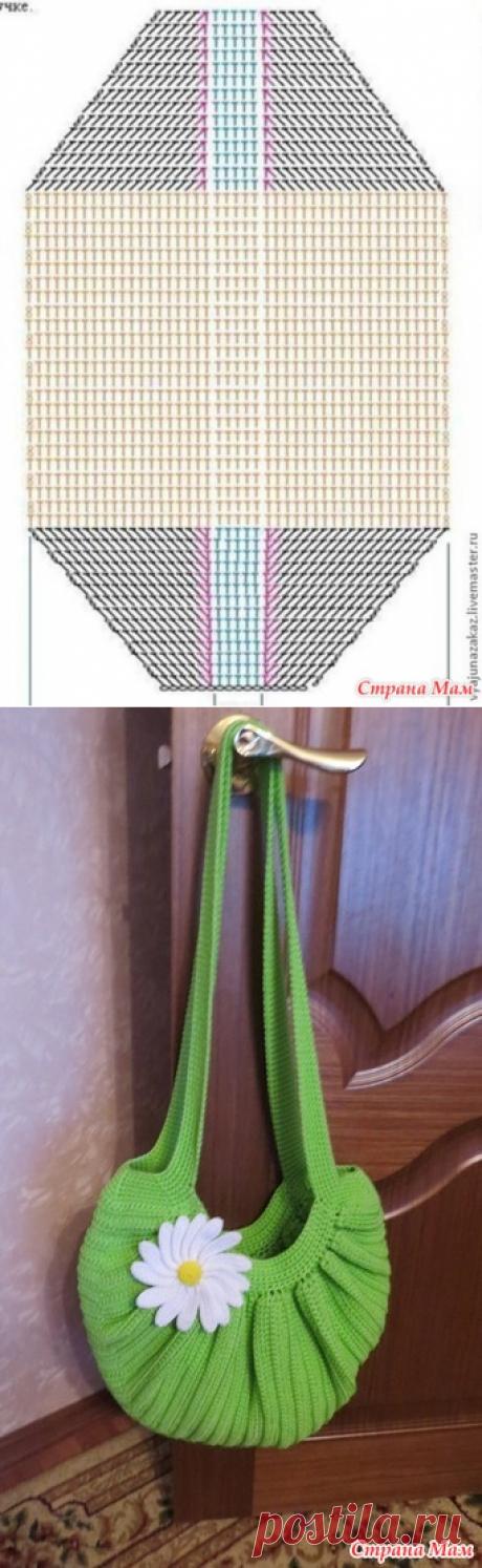 Летняя сумка - ромашка - Вязание - Страна Мам