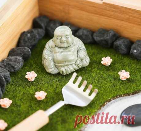 Миниатюрный сад камней своими руками.