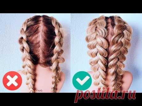 ФРАНЦУЗСКИЕ КОСЫ НАОБОРОТ. Прическа на Последний Звонок. How To: Double Dutch Braid   Hair Tutorial