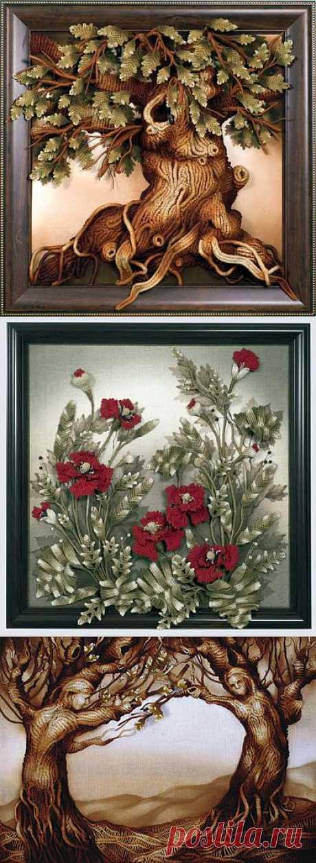 """Объемные картины в технике Нетрадиционное макраме Разработанная художниками Сергеем и Людмилой Гутовских техника """"нетрадиционное макраме"""" не имеет аналогов в мире."""