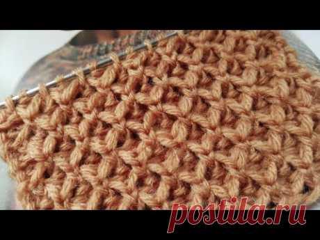 """Вяжем шикарные """"Соты"""" спицами 🍂 knitting pattern."""