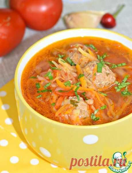 Капустный суп с фрикадельками - кулинарный рецепт