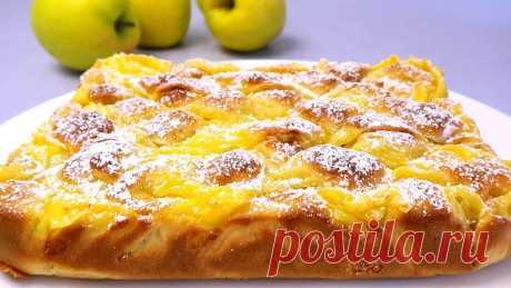 Яблочный пирог с заварным кремом. Вкуснее шарлотки Пирог получается очень нежным за счет яблок и классического заварного крема. Для приготовления крема вам потребуются такие ингредиенты: — молоко, 250 мл; — сахар, 50 г; — яйцо,...