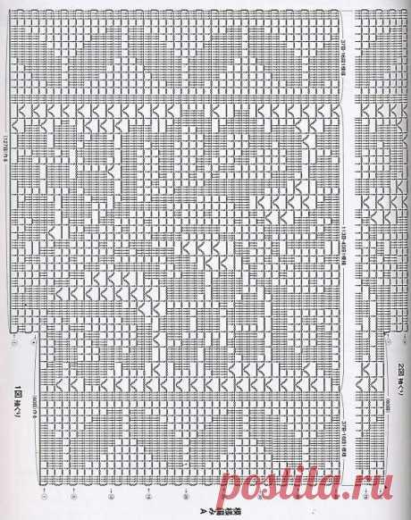 Филейное вязание. Примеры работ со схемами. | Петелька | Яндекс Дзен