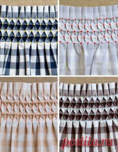 classic gingham and smocking grid