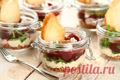Простой салат с гречкой и свеклой – пошаговый рецепт с фото.