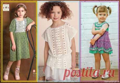 НЕМНОГО ЛЕТНЕЙ И ЦВЕТОЧНОЙ НЕЖНОСТИ! МОДЕЛИ ДЛЯ ДЕВОЧЕК КРЮЧКОМ. | Детская одежда крючком. Схемы Яркие и однотонные ажурные модели для девочек связанные крючком с очаровательными принтами и стильными узорами. Мода для маленьких модниц весьма разнообразна от лёгкого ретро до нежного романтизма. В этой подборке актуальные модели платьев и летних кофточек разного уровня сложности и...