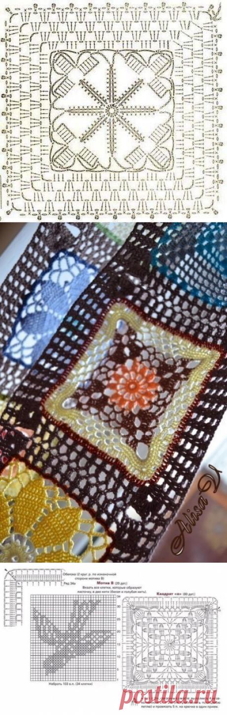 Схемы бабушкин квадрат из категории Интересные идеи – Вязаные идеи, идеи для вязания