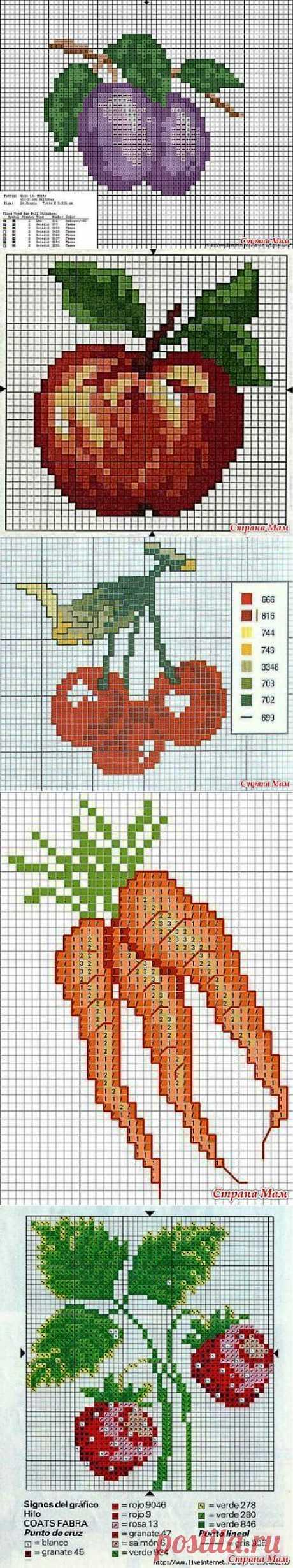 """Вышивка крестиком. Фрукты, овощи, ягоды.: Дневник группы """"Клуб рукоделия"""" - Страна Мам"""