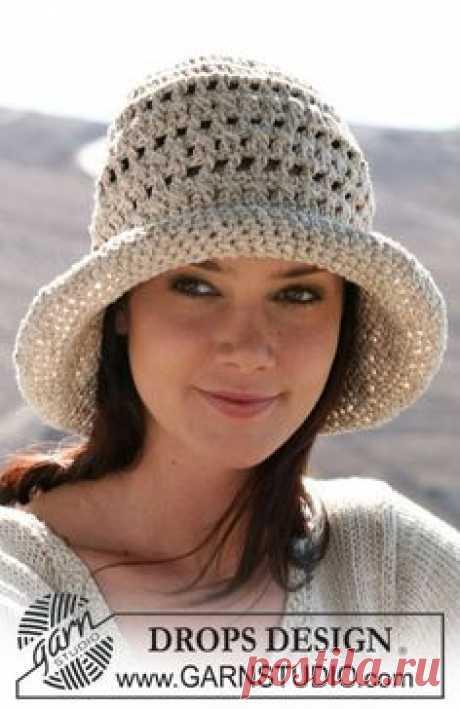 Летняя вязанная шляпа крючком