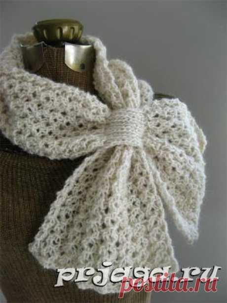 Вязание ажурных шарфов спицами от Katie Harris