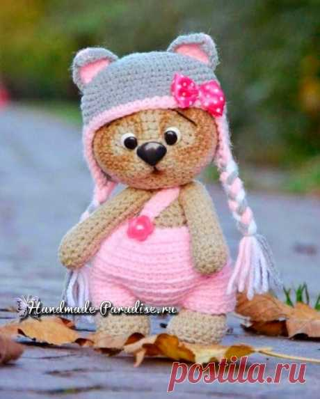 Медвежонок в шапочке. Амигуруми крючком - Handmade-Paradise