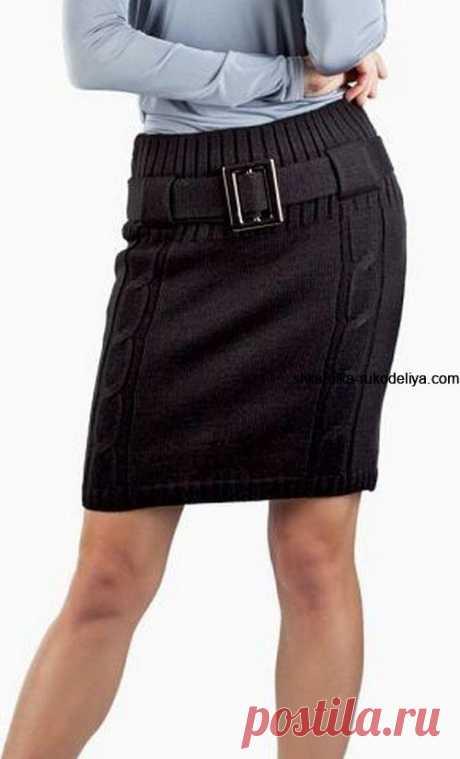 Юбки спицами для офиса. Вязаная юбка спицами схемы описание