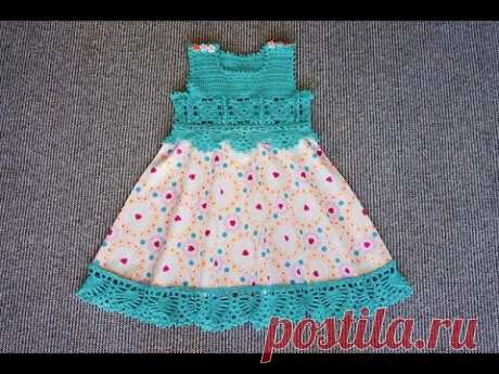 Детское комбинированное платье