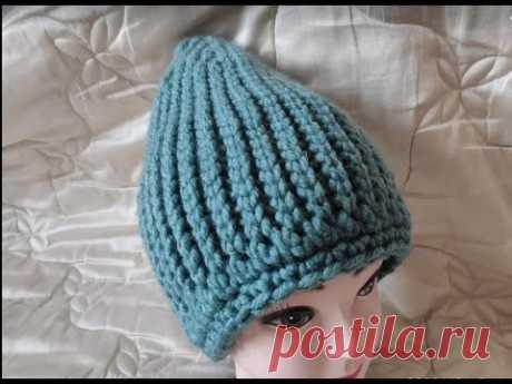 Теплая, зимняя шапка крючком