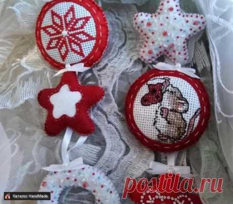 Новогодние игрушки из фетра ручной работы купить в Минске и Беларуси, цены на HandMade